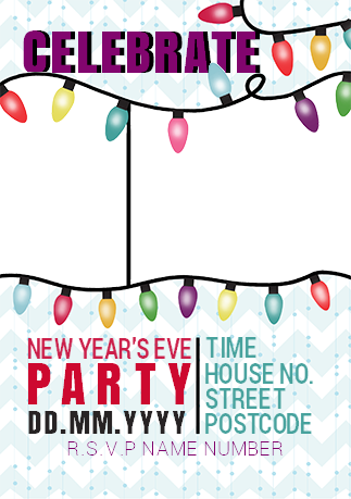 New Year\'s Eve Party Invite | Funky Pigeon