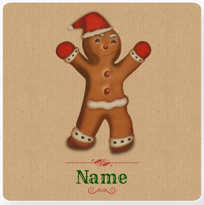 Gingerbread Man Personalised Cushion