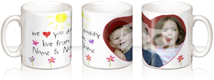 Personalised Mug - Daddy Love From Us Children's Drawing