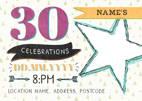 Male Birthday Party Invite Photo Postcard Funky Pigeon