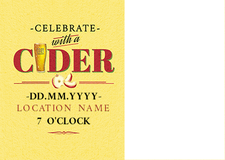 Celebrate With Cider Party Invite Photo Postcard Funky Pigeon