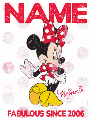 4e674210 Minnie Mouse Kids T-shirt - Personalised Fabulous Since | Funky Pigeon